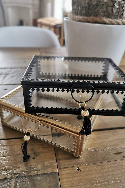 Petite boîte bohème noir