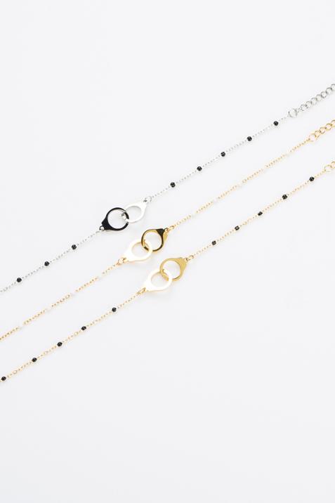 Bracelet anneau blanc et doré