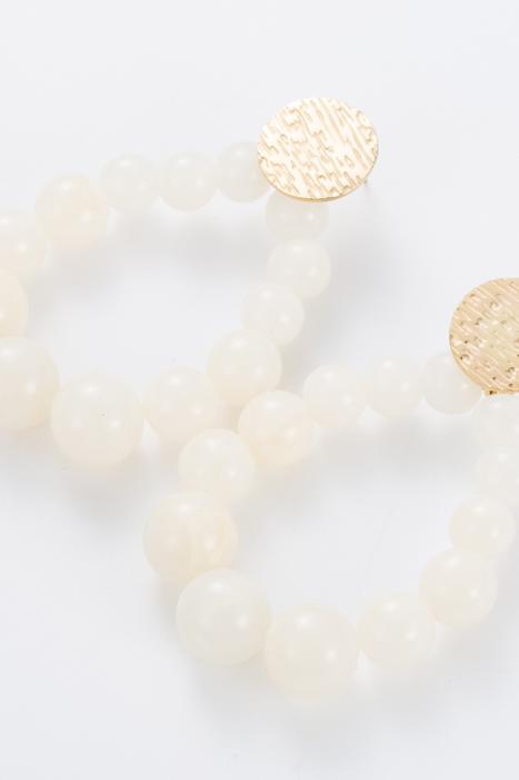 Boucles d'oreilles perles écru