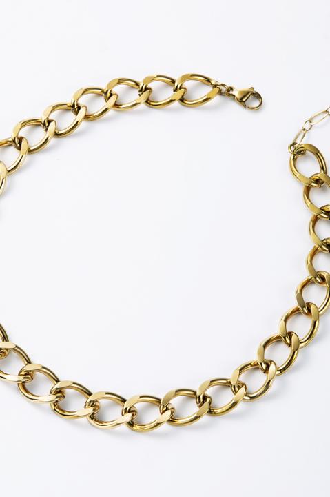 Collier grosse chaîne doré
