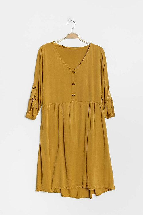"Robe ""AGATHE"" moutarde"