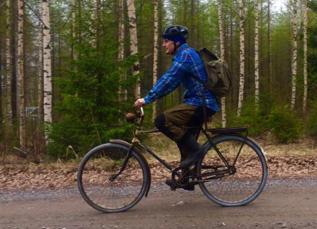 Mummopyörälläkin voi lähteä matkaan.