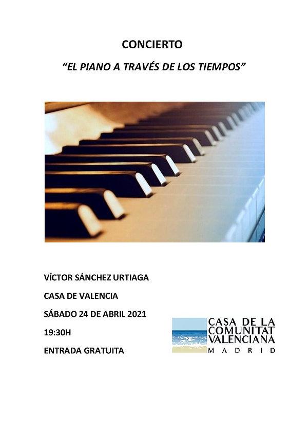 CONCIERTO EL PIANO A TRAVÉS DE LOS TIEMP