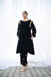 Black Velvet Tilla Phiran and Pant