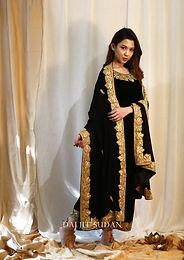 Black Velvet Tilla Suit