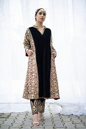 Black Velvet Kali Tilla Phiran set
