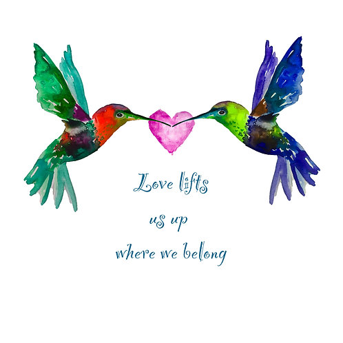 Love Lifts Us Up Card