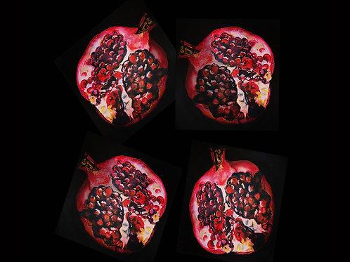 Pomegranates Quality Art Print