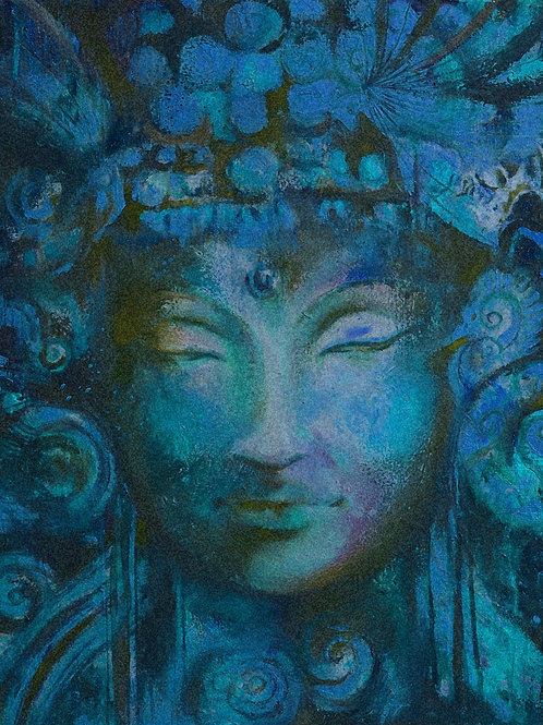 Blue or Burnt Orange Buddha A3 Quality Print