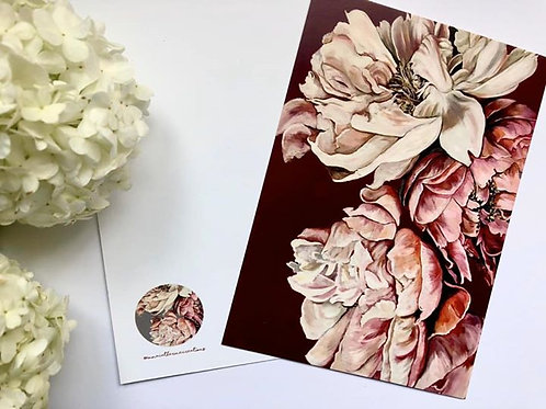 Peony Postcards A6 Pack of 6