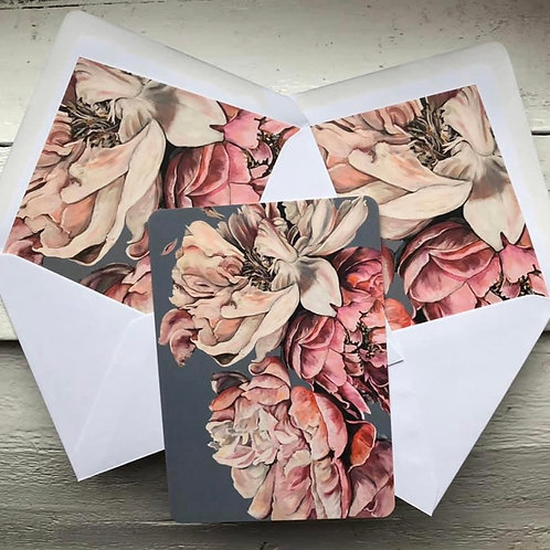 Peony Card and Envelope Insert