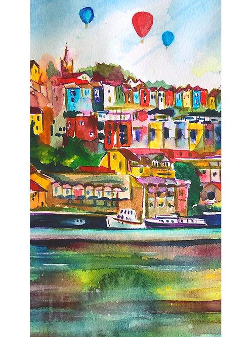 Bristol A3 Mounted Watercolour Prints
