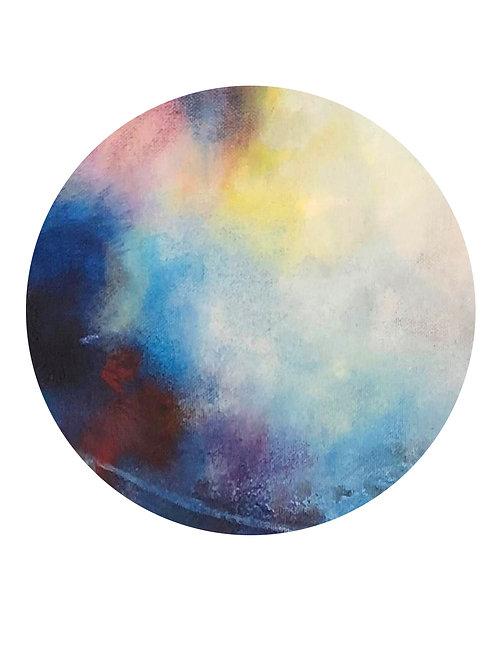 Blue Moon Print A4