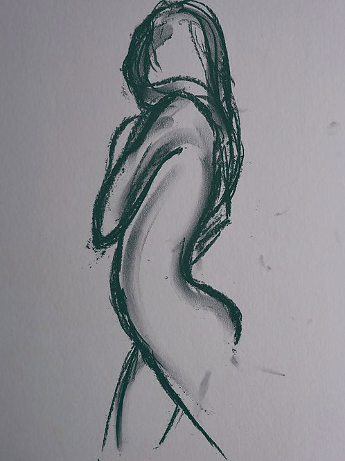 Figure in Charcoal Quality A3 Art Print
