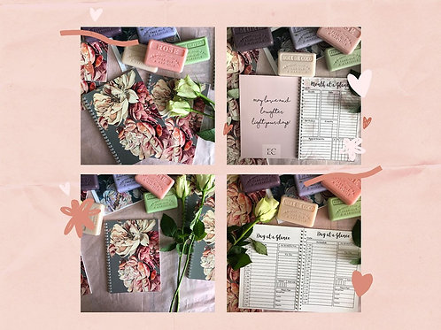 Gift Pack, Planner plus 2 French Soaps and a floral card in packaging