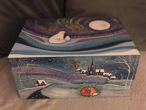 Christmas Eve Boxes hand Painted and customised