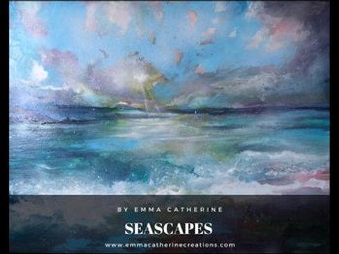 Sun Spray Seascape Art Print