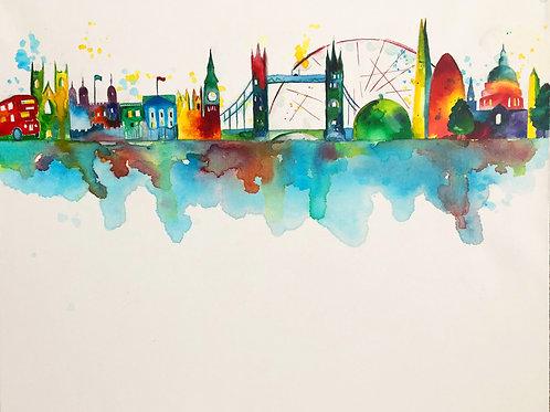 London Skyline A4 Print