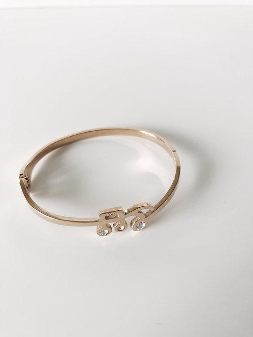 Music Rose Gold Bracelet (Free Size)