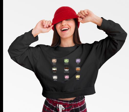 Bubble Tea Sweater (cropped)