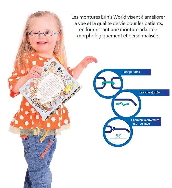 Monture de lunettes pour trisomie 21