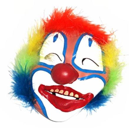 Clown latex mask