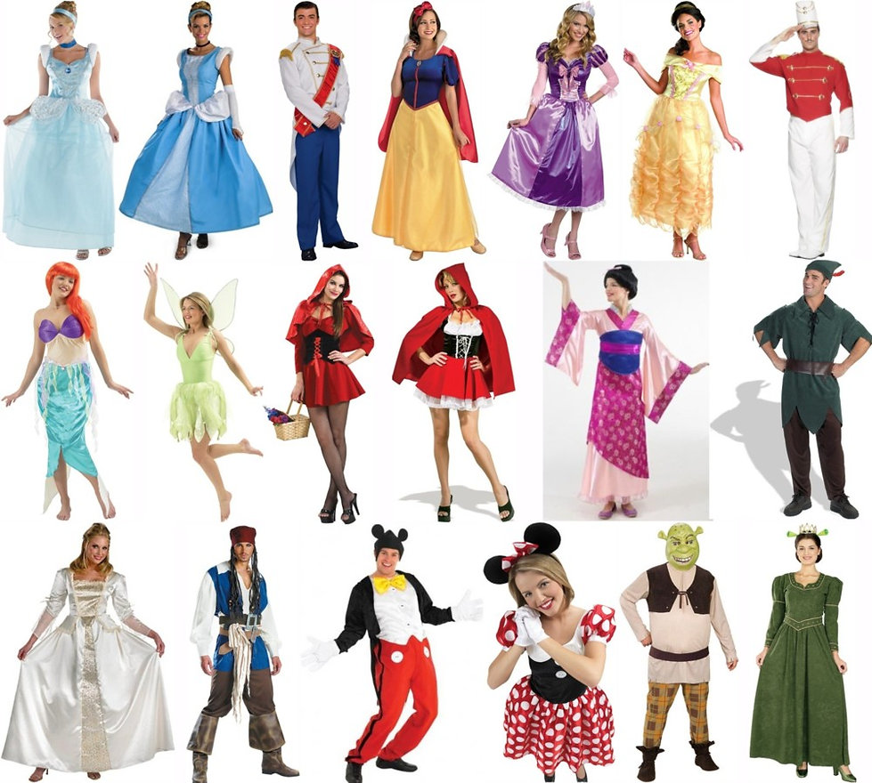 largest range of adults costumes