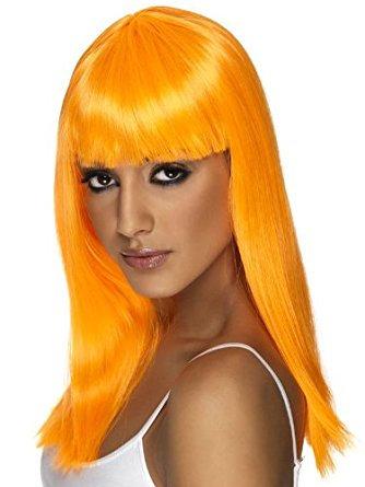 Glamourama Wig Neon Orange