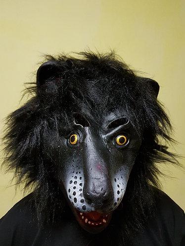 Evil Gibbon Mask with black hair