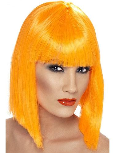 Glam Wig Neon Orange