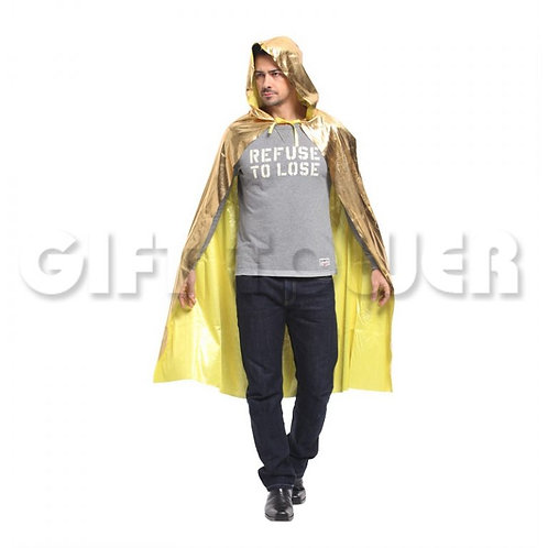 Dazzling Hooded Cape - Gold
