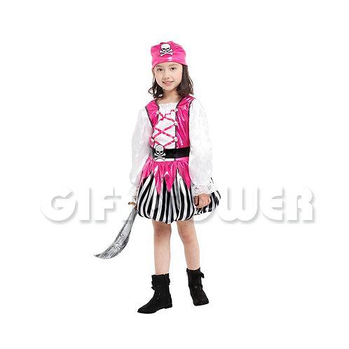 Bright Pink Pirate Girl