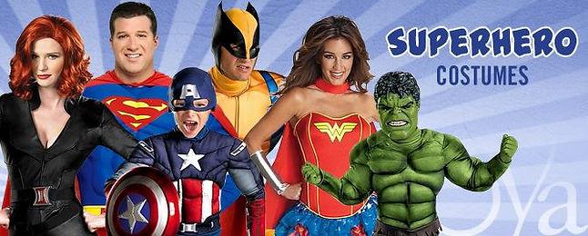 Biggest range of superhero costumes