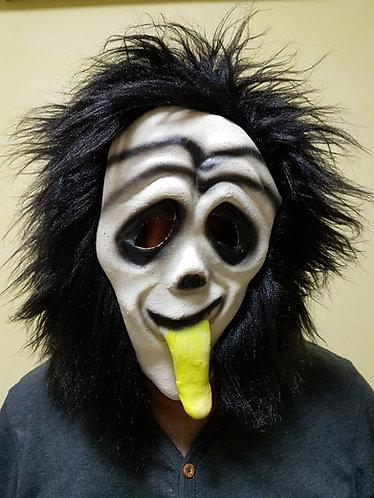 Scream Mask with black hair
