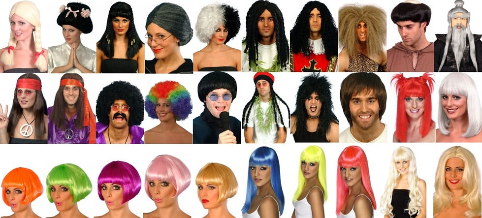 all kinds of wigs