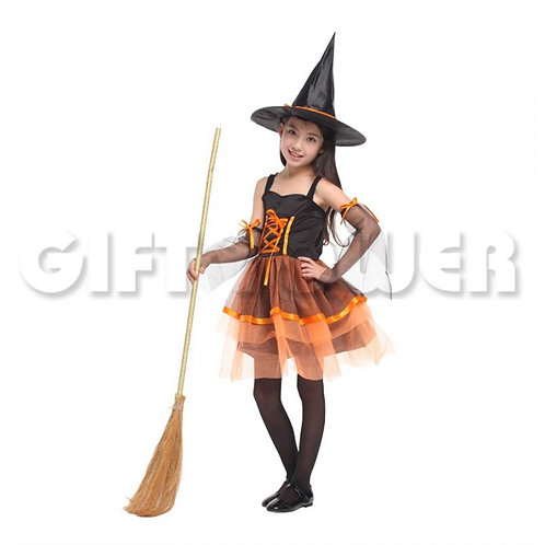 Lovely Organza Witch Orange
