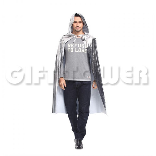 Dazzling Hooded Cape - Silver