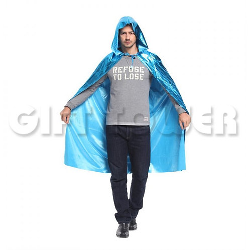Dazzling Hooded Cape - Blue