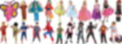 largest range of kids costumes