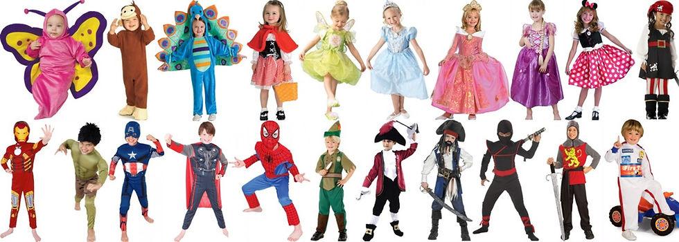 largest range of kids costumes
