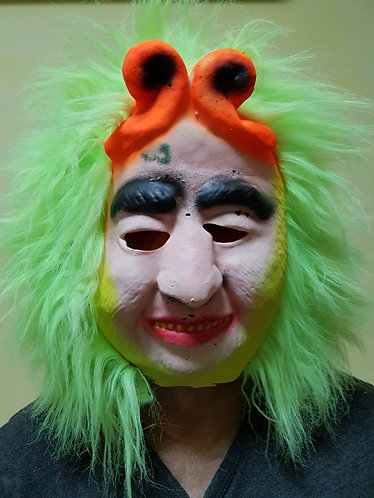 Monkey King Mask with green hair