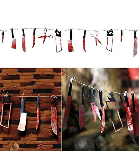 Halloween Bloody Tools Banner