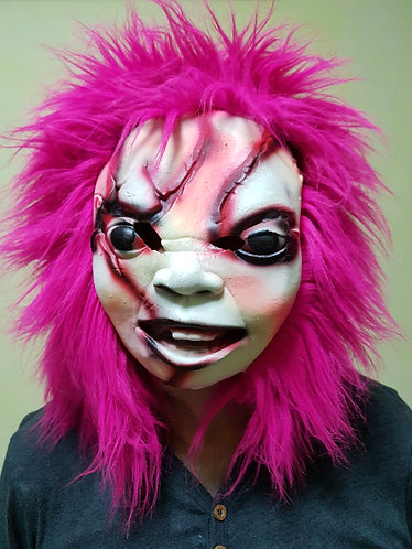 Chucky Mask with pink hair