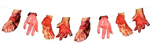 Halloween Hands & Feet Banner