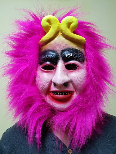 Monkey Prince Mask with pink hair