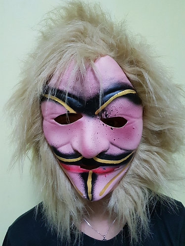 V Mask (child size) with blonde hair