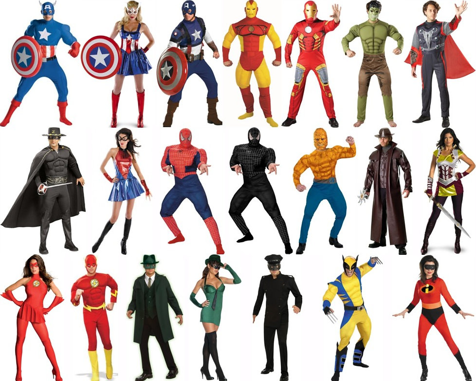 variety of costumes