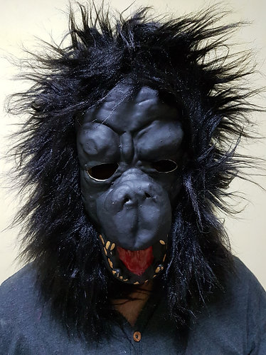 Gorilla Mask with black hair
