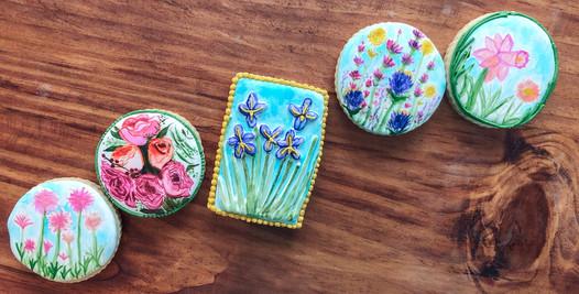 Painted Flower Cookies