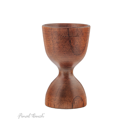 Final Touch Solid Wood Double Jigger